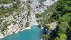 Излазак из кањона реке Вердон ка језеру Lac de Sainte-Croix
